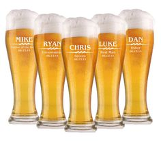 Groomsmen Gift, 10 Personalized Beer Glasses, 16oz Glasses, Custom Engraved Pilsner Glass, Wedding Party Gifts, Gifts for Groomsmen, Mug