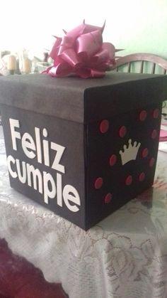 Caja de cumpleaños  mujer