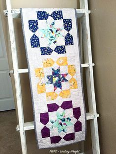 Fort Worth Fabric Studio: Gigi Blooms Table Runner posted by Lindsey..I have a fun project to share with you today...You could easily use this block in a repeat for a quilt and it would look stunning!