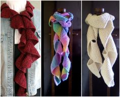 Folded Spiral Knitted Scarf