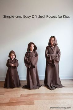 DIY Jedi Robe for Kids-- full tutorial, no pattern required! In partnership with @downyWRplus #ad