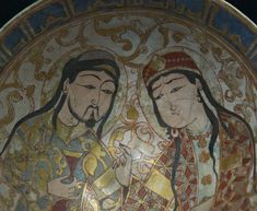 Saljuq Bowl with man with cup and lady