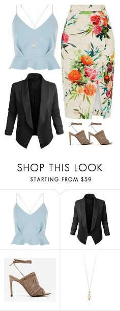 """Untitled #53"" by newdesigner-869 ❤ liked on Polyvore featuring River Island, Jupe de Abby, CHARLES & KEITH and St. John"