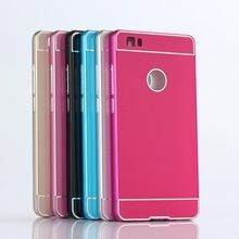 voor huawei ascend p8 lite acryl pc case luxe aluminium metalen achterkant hard case voor huawei p8 lite coque fundas capa(China (Mainland))