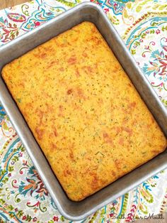 A rustic, savory cornbread recipe chocked full of jalapeno peppers, jack cheese, creamed corn and green onions. Savory Cornbread Recipe, Cornbread Salad Recipes, Mexican Cornbread, Sweet Cornbread, Boricua Recipes, Homemade Desserts, Homemade Breads, Baking Flour, Bread Baking