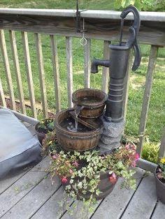Fountain Cellar Old Fashion Water Pump Fountain - Love this setting