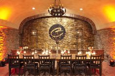 The Barrel Cave at Childress Vineyards is perfect for intimate gatherings.