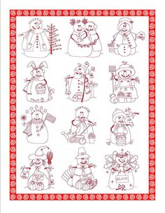 12 month of Snowman Quilt Blocks Embroidery Applique, Cross Stitch Embroidery, Embroidery Patterns, Quilt Patterns, Machine Embroidery, Christmas Sewing, Christmas Embroidery, Blackwork, Snowman Quilt