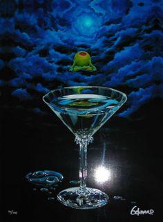 Michael Godard Zen Martini 1 s N and All Other Michael Godard Prints   eBay