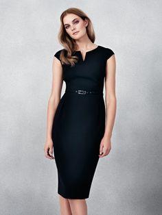 185d9b51c5 black work-appropriate dress Black Work Dresses, Work Meeting, Shift Work, V