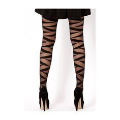 Missguided Izme Bandage Tights ($9.13) ❤ liked on Polyvore