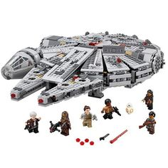 55.00$  Buy here - http://ali2wq.shopchina.info/go.php?t=32799506604 - LEPIN 05007 Super Size 1381Pcs Millennium Falcon Force Awakening Star Wars 7 Building Blocks Toys For Children Star Wars Toys 55.00$ #magazineonline
