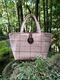 Beautiful Pink Scottish Tweed Tote Bag