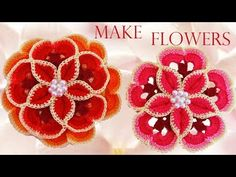 Como tejer las flores mas lindas fácil y rápido - How to make beautiful flowers easy knitting gift - YouTube