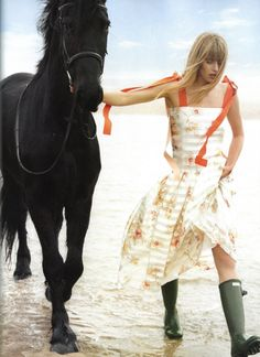 Town and Country UK Summer 2017 -annemara-post- Town And Country Magazine, Country Uk, Wellies Rain Boots, Horse Fashion, Singing In The Rain, Equestrian Style, Hunter Boots, Fashion Photo, Editorial Fashion