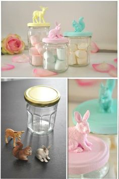 DIY box, animals,  jar