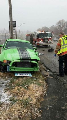 2p13 Ford Mustang Boss 302 in Gotta Have it Green a total loss December 8, 2016.
