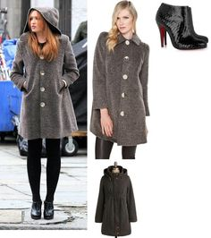 On Ivy: Vena Cava Weezer Coat, Christian Louboutin Belle Glossed Python Ankle Boots