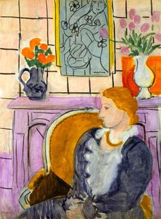 Blue Dress in Ocher Armchair, 1937 by Henri Matisse