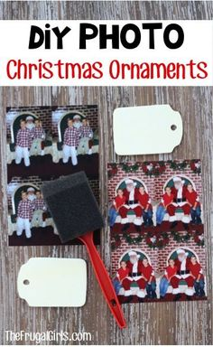 Easy Christmas Photo Ornaments! ~ from TheFrugalGirls.com ~ make a super cute DIY ornament for your tree with this simple craft using your favorite photos! These make great gifts, too!