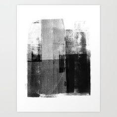 Black and White Minimalist Geometric Abstract Canvas Print by mininst Minimalist Painting, Minimalist Art, Texture Painting, Painting Prints, Acrylic Paintings, Framed Art Prints, Canvas Prints, Black And White Artwork, Concrete Texture