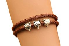 Fox Bracelet,retro Silver Fox Head Bead Bracelet,brown Le... https://www.amazon.com/dp/B00H03QLEY/ref=cm_sw_r_pi_dp_x_t6GwybH5R2H6P