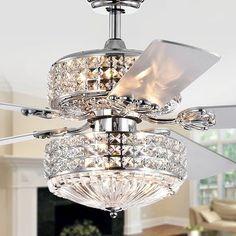 Ceiling Fan Chandelier, Silver Chandelier, Ceiling Lights, Ceiling Fans, Bathroom Chandelier, Crystal Chandeliers, Wall Lights, 52 Inch Ceiling Fan, Shops