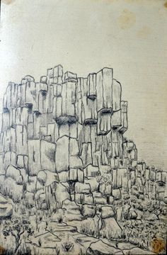 Letting the mind go, pencil and paper ready. Result - rocky outcrop.