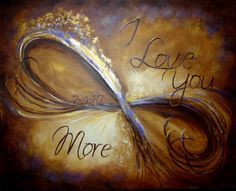 Eternity Symbol Birthday Artwork with Custom Phases-I love you more by studiodfineart on Etsy