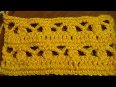 Puntada a crochet, muy fácil de realizar, se puede aplicar en diversos proyectos tejidos. - YouTube