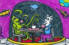 Alien civilization (an invitation to tea) - read the poem here: http://www.equationarts.com/2012/05/alien-civilization-an-invitation-to-tea-doodle/
