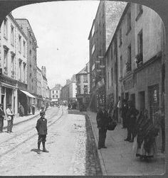 Remarkable Old Photos of Ireland Old Pictures, Old Photos, Vintage Photos, Images Of Ireland, Irish Culture, Shopping Street, Galway Ireland, Ireland Landscape, Street View
