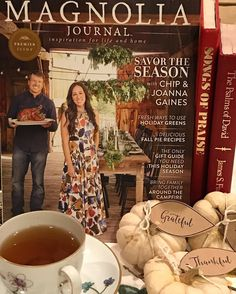 Grateful. Thankful. Blessed. Curling to with Fig Tea and the. Ew Magnolia Journal!  Prayed up and leaving the polls to the pundits!  #magnoliajournal #chipandjoannagaines