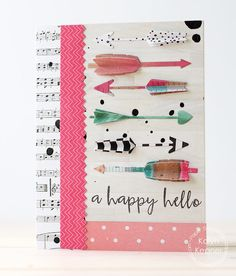 A Happy Hello card by Kalyn Kepner for Paper Smooches - Arrow Dies, Fun & Flirty stamp set What Are Tarot Cards, Heartfelt Creations Cards, Make Your Own Card, Tarot Learning, Paper Smooches, Stampin Up Christmas, Christmas Trees, Card Tags, Card Kit