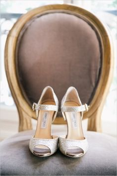 Wedding Shoes: Elegant Shoes // Captured by Audrey from One and Only Paris Photography - Wedding Chicks - Real Weddings - Loverly