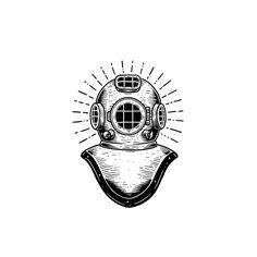 Old school scuba diver illustration by buttery studio. Surf, skate, traditional tattoo art. #illustration #drawing #design #buttery #graphicdesigner #art #artist #designstudio #designer #sketch #adventure #surfing #lineart #skate #ipadproart #butterystudio #wacomcintiq #logo #caferacer #typography #blackandwhite #divertattoo #illustrate #diver #skateboarding #graphicdesign #logodesign #branding #freelancer