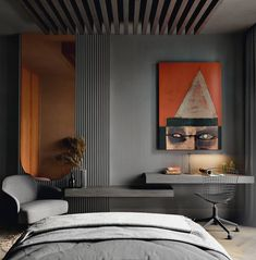 Stunning and modern Bedromm design ideas // cgi visualization by Diego Drews. Visualization & Models done in Autodesk Max, Corona Renderer & Vray for Max. Modern Bedroom Design, Bed Design, Home Interior Design, Interior Architecture, Hotel Room Design, Suites, Apartment Interior, Luxurious Bedrooms, Bedroom Decor