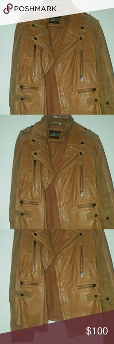 Leather Jacket Nice leather jacket, suede sleeves, practically new only worn once Jackets & Coats Utility Jackets