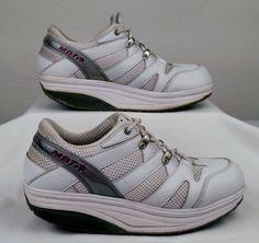 MBT SPORT White Leather Walking Toning Sneakers 8 Medium Women 6 Men  Used #MBT #Athletic
