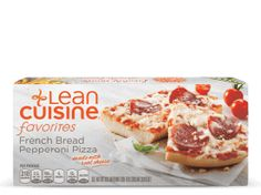 French Bread Pepperoni Pizza - so good! Lean Cuisine, Pizza Flavors, Frozen Meals, Cafe Food, Pepperoni, Real Food Recipes, Tasty, Lunch, Bread