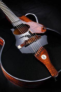 De La Garza's archtop guitars, handmade in Mexico, looks like liquid - Instrumental ♫ Music Musica музыка Guitar Shop, Jazz Guitar, Music Guitar, Cool Guitar, Playing Guitar, Music Music, Banjo, Ukelele, Electric Guitars