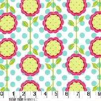 Michael Miller Fabric - New Mod Blooms - Ships Free