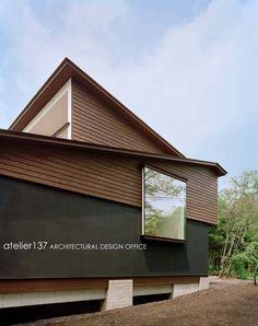 New Ideas House Facade Design Classic Building Japanese Architecture, Contemporary Architecture, Facade Design, House Design, Japanese Modern House, Wooden Facade, Retreat House, Classic Building, House Landscape