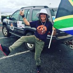 Excited #braaitour participant ready for action in her sunhat
