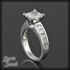 Princess Cut 1 carat Diamond Engagement Ring by LaurieSarahDesigns