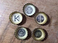 Bulldog themed bottle cap magnets, k9, red dog in the house, doggie in the window masculine gift  for bulldog lover, or Georgia fan,on Etsy, $6.00