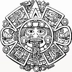 mayan calendar face outline - Google Search