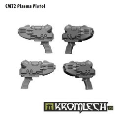 This set contains five Plasma Pistols suitable for Space Legionaries or similar heavy armoured futuristic troopers.