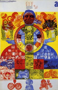 Magazine Oz, cover from Barney Bubbles, 1968.