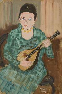 Mandolin Player  Milton Avery, 1932  gouache on paper  Corriente Artística: Modernismo